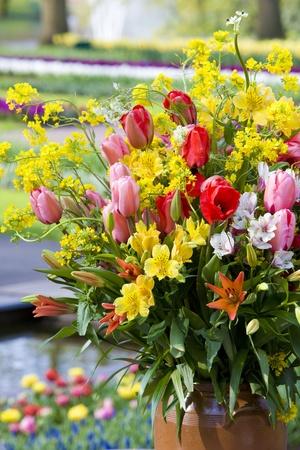 bodegones: bouquet de flores, jardines de Keukenhof, Lisse, Holanda