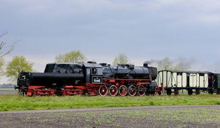 steam train, Veendam - Stadskanaal, Netherlands Stock Photo - 8458963