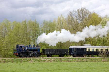 locomotoras: tren de vapor, Boekelo - Haaksbergen, Pa�ses Bajos Foto de archivo