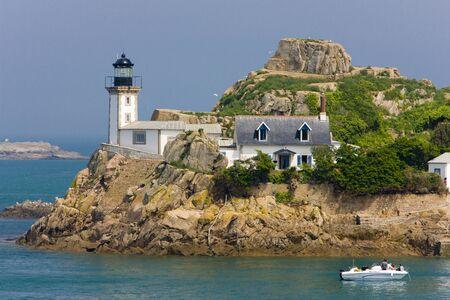 灯台、ポワント ド ペン アル素晴らしい、ブルターニュ、フランス