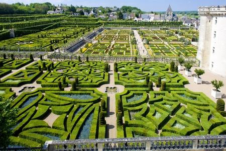 touraine: Villandry Castles garden, Indre-et-Loire, Centre, France