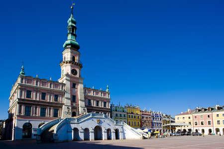 gildhalls: Town Hall, Main Square (Rynek Wielki), Zamosc, Poland