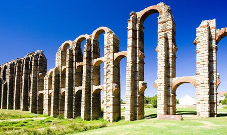 Aqueduct of Los Milagros, Merida, Badajoz Province, Extremadura, Spain photo