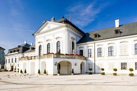 bratislava: Presidential residence in Grassalkovich Palace on Hodzovo Square, Bratislava, Slovakia