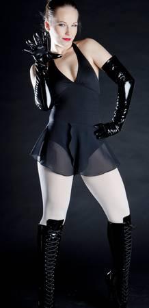 ballet dancer in black clothes Stock Photo - 8483916