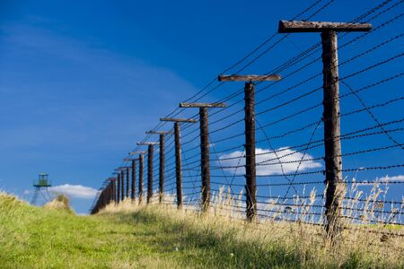 demarcation: remains of iron curtain, Cizov, Czech Republic