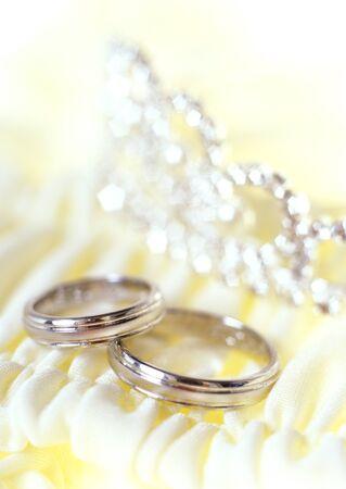 alliances: wedding still life Stock Photo