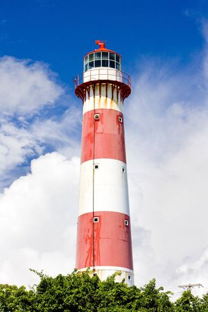 windward: South Point Lighthouse, Barbados Stock Photo