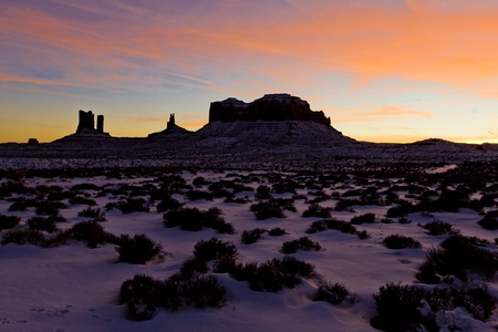 Monument Valley National Park after sunset, Utah-Arizona, USA photo