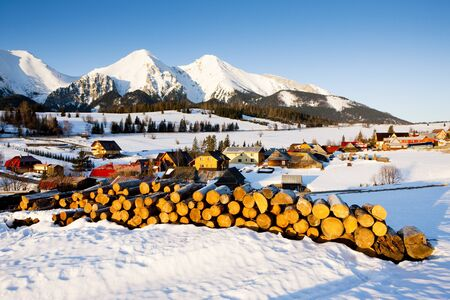 tatras tatry: Belianske Tatry (Belianske Tatras) in winter, Zdiar, Slovakia Stock Photo