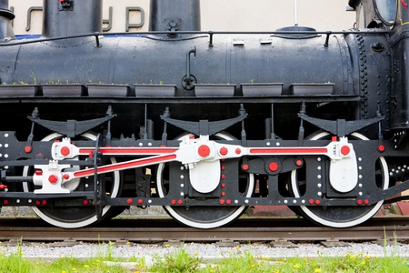 bosnia hercegovina: detail of steam locomotive, Visegrad, Bosnia and Hercegovina Stock Photo