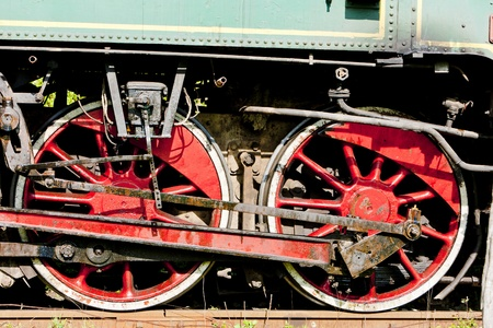 detail of steam locomotive, Durdevik, Bosnia and Hercegovina photo