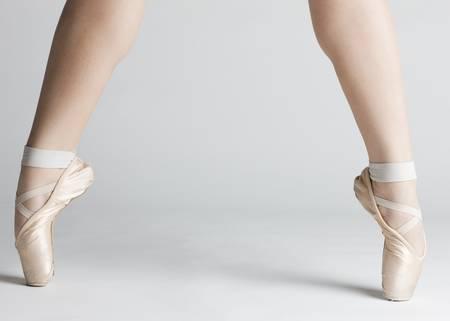 detail of ballet dancer''s feet Stock Photo - 8595494