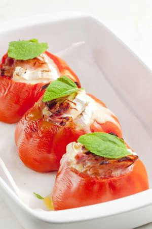 queso de cabra: tomates al horno con queso de cabra y panceta