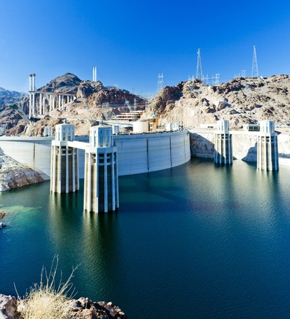 energ�as renovables: Dam, Arizona-Nevada, Estados Unidos Foto de archivo