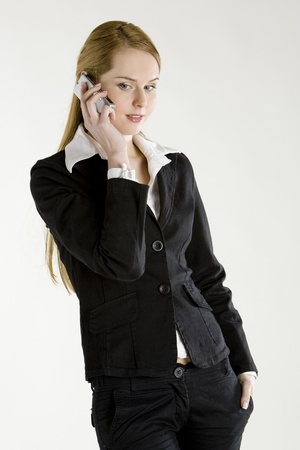 telephoning businesswoman photo