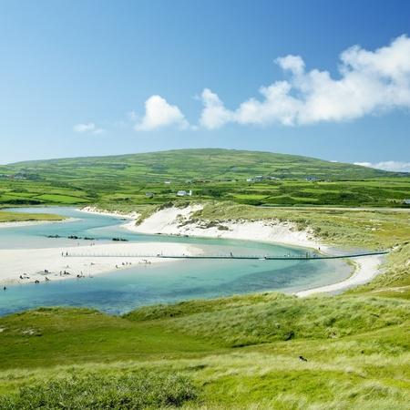 foot bridge: beach with foot bridge, Barleycove, County Cork, Ireland
