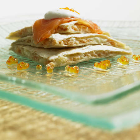 smoked salmon: quesadilla with smoked salmon