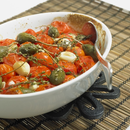 capers: warm tomato salad with capers