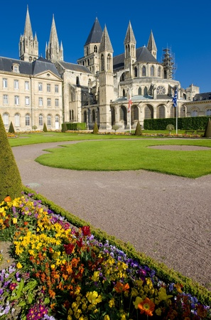 eacute: church of Saint &Eacute,tienne, L&acute,Abbaye Aux Hommes, Normandy, France Stock Photo