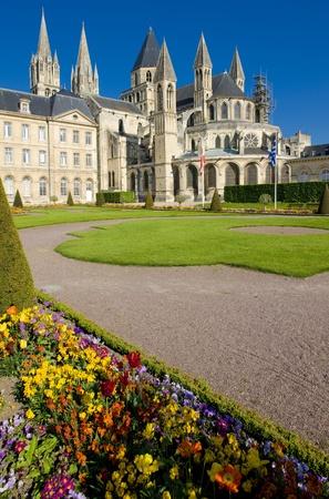 church of Saint &Eacute,tienne, L&acute,Abbaye Aux Hommes, Normandy, France Stock Photo