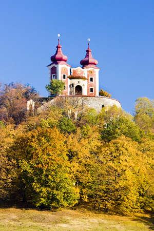 peregrinación: Iglesia de peregrinaci�n en el Calvario, Banska Stiavnica, Eslovaquia