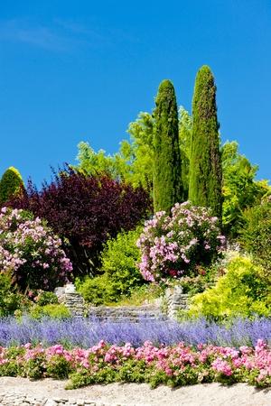 gordes: garden at Gordes, Provence, France