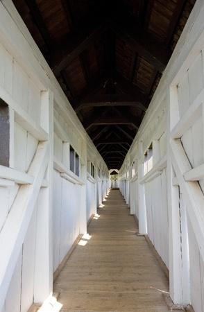 inter of covered wooden bridge by Dusan Jurkovic, Nove Mesto nad Metuji, Czech Republic Stock Photo - 8877063