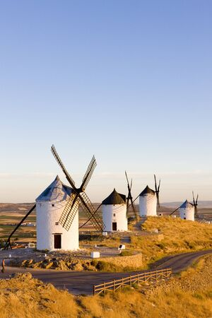travel locations: windmills, Consuegra, Castile-La Mancha, Spain