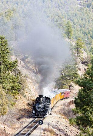 Durango   Silverton Narrow Gauge Railroad, Colorado, USA Stock Photo - 8877212