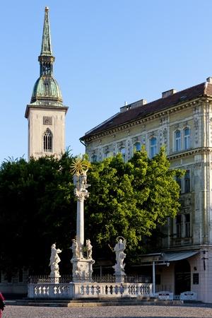 plaga: Columna de plaga de St.Trinity, Bratislava, Eslovaquia
