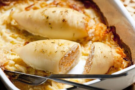 sepias: sepia filled with salmon rice