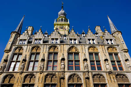 gildhalls: town hall, Veere, Zeeland, Netherlands