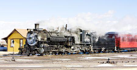 Cumbres and Toltec Narrow Gauge Railroad, Antonito, Colorado, USA Stock Photo - 8878995