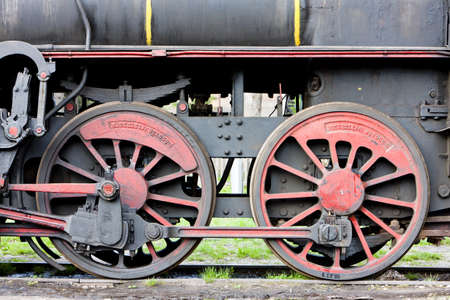 detail of steam locomotive (126.014), Resavica, Serbia Stock Photo - 8879091