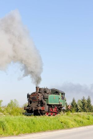 bosnia hercegovina: steam locomotive, Durdevik, Bosnia and Hercegovina