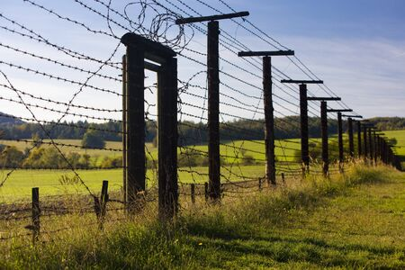 zbytky: remains of iron curtain, Cizov, Czech Republic