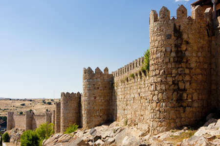 fortification: fortification of Avila, Castile and Leon, Spain Stock Photo