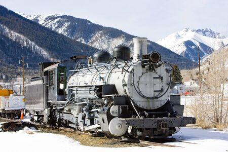 steam traction: old steam locomotive, Silverton, Colorado, USA Stock Photo