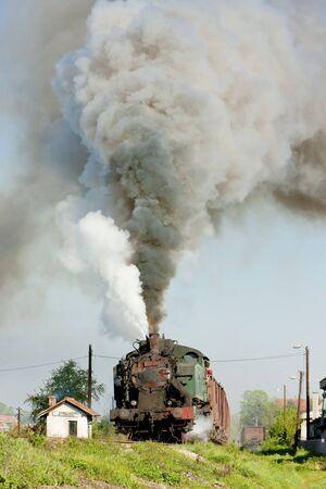hercegovina: steam freight train, Durdevik, Bosnia and Hercegovina