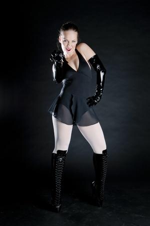 ballet dancer in black clothes Stock Photo - 9018247