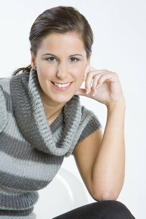pullovers: womans portrait Stock Photo