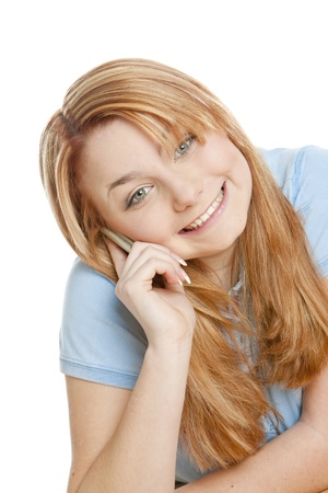 telephoning: telephoning womans portrait