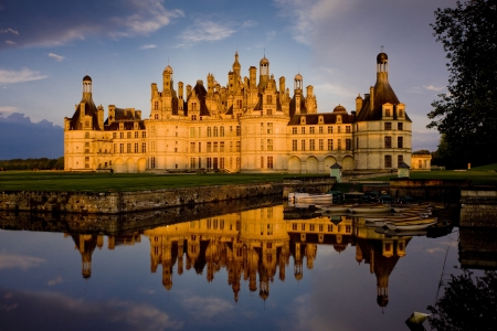 historical reflections: Chambord Castle, Loir-et-Cher, Centre, France