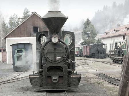steam traction: steam locomotive, Ciernohronska Railway, Slovakia Stock Photo