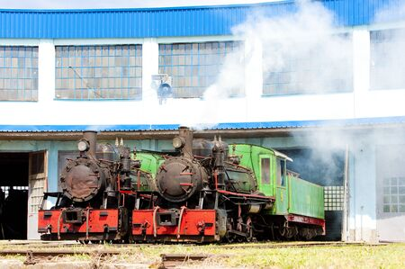 steam locomotives in depot, Kostolac, Serbia Stock Photo - 9089397