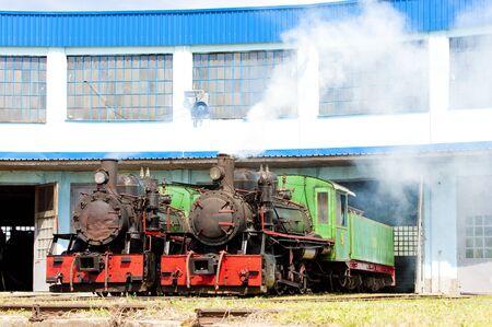 steam locomotives in depot, Kostolac, Serbia Stock Photo - 9089397