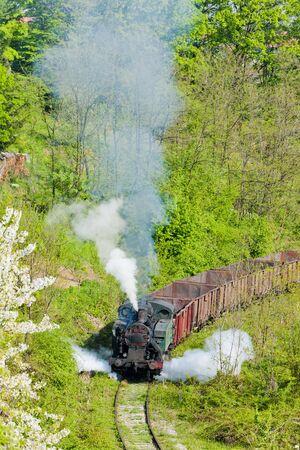 bosnia hercegovina: steam freight train, Durdevik, Bosnia and Hercegovina