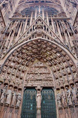 gothic build: Cathedral Notre Dame, Strasbourg, Alsace, France