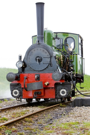 hoorn: steam locomotive, Hoorn - Medemblik, Noord Holland, Netherlands Stock Photo